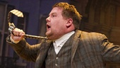 james Corden as Francis Henshall in One Man, Two Guvnors.