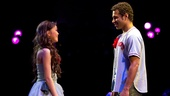 Anna Maria Perez de Tagle and Corbin Bleu as Jesus in Godspell.