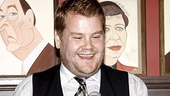 One Man, Two Guvnors star James Corden is all smiles as he accepts the award for Outstanding Actor in a Play.