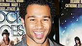 Godspell star Corbin Bleu is psyched for the Rock of Ages screening.
