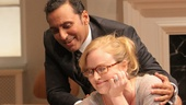 Aasif Mandvi as Amir Kapoor and Heidi Armbruster as Emily in Disgraced.