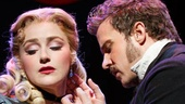 Betsy Wolfe as Rosa Bud and Will Chase as John Jasper in The Mystery of Edwin Drood.