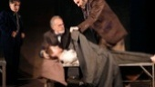 Chip Zien as Vasily Korinsky, Ron Rifkin as Yevgeny Zunser, Noah Robbins as Moishe Bretzky and Daniel Oreskes as Pinchas Pelovits in The Twenty-Seventh Man.