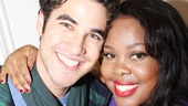 Glee stars Darren Criss and Amber Riley beam backstage after Cotton Club Parade. Is it too soon for a Memphis revival starring these two?!