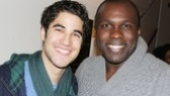 Darren Criss congratulates Tony nominee Joshua Henry, who leads Cotton Club as the evening's emcee.