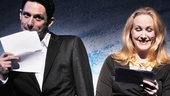 Once star Steve Kazee and Annie meanie Katie Finneran get silly while presenting the next performance.
