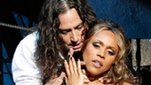Constantine Maroulis as Dr. Jekyll and Deborah Cox as Lucy in Jekyll & Hyde.