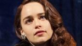 Emilia Clarke as Holly Golightly in Breakfast at Tiffany's.
