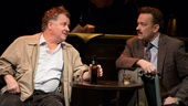 Peter Gerety as John Cotter and Tom Hanks as Mike McAlary in Lucky Guy.