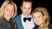 More Swedish pride! TV host Kristin Kaspersen and singer Sarah Dawn Finer congratulate Broadway's newest Phantom.