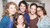 Do you think Stella Gregg is excited to meet Darren Criss? We would be too! Enjoy this parting shot of Victoria Clark, Darren, Stella, Laura Osnes and Jennifer Grey.