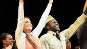 Violet headliners Sutton Foster and Joshua Henry bid farewell to the crowd.
