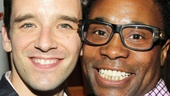 Michael Urie hangs out with Tony winner Billy Porter (Kinky Boots) at his birthday bash.