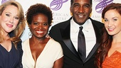 So much talent in one photo! Emily Skinner, LaChanze, Norm Lewis and Sierra Boggess catch up before the gala.
