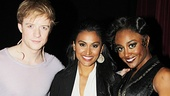 Pippin headliners Matthew James Thomas and Patina Miller flank newly crowned Miss America 2014, Nina Davuluri.