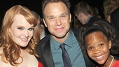Big Fish duo Kate Baldwin and Norbert Leo Butz meet Oscar nominee Quevenzhane Wallis at the party.