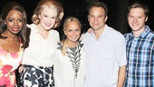 Big Fish stars Krystal Joy Brown, Kate Baldwin, Norbert Leo Butz and Bobby Steggert rally around Tony winner Kristin Chenoweth.