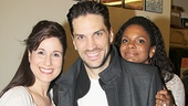 Will Swenson strikes a pose with his onstage wife and daughter, Stephanie J. Block and Hannah Rose Nordberg, and his real-life wife, Audra McDonald!