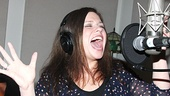 A Night with Janis Joplin star Mary Bridget Davies lets out her signature wail in the recording booth.