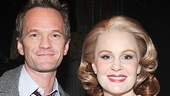 Picture perfect! Neil Patrick Harris takes a photo with Kate Baldwin, who plays Sandra Bloom in Big Fish.