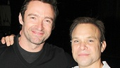 Way too much talent for one photo! Two of the best leading men in the biz, Hugh Jackman and Norbert Leo Butz, hang out backstage.