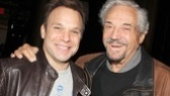 Tony winner and Barney Miller favorite Hal Linden stops by to greet Big Fish star Norbert Leo Butz.