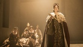 Lydia Leonard as Anne Boleyn and the cast of Wolf Hall