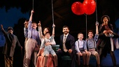 Laura Michelle Kelly as Sylvia Llewelyn Davis and Tony Yazbeck as J.M. Barrie with the cast of Finding Neverland