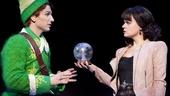 Sebastian Arcelus as Buddy and Amy Spanger as Jovie in Elf.