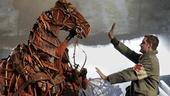 Peter Hermann as Friedrich Muller and Elliot Villar in War Horse.