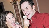 Onstage lovebirds Liana Hunt (Sophie) and Corey Greenan (Sky) strike a wedding-worthy pose with their cupcakes.
