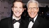 Handsome nominees Rory O'Malley (of The Book of Mormon) and Tony Sheldon (of Priscilla Queen of the Desert).