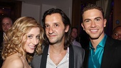 Designer Rob Howell gets between Ghost leads Caissie Levy and Richard Fleeshman.