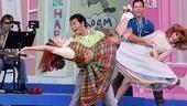 Seaweed Stubbs (Corbin Bleu) sweeps Penny Pingleton (Diana DeGarmo) off her feet.