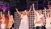 The cast of Lysistrata Jones take a heavenly bow on opening night.