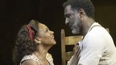 Audra McDonald as Bess and Norm Lewis as Porgy in Porgy and Bess.