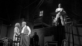 Linda Emond as Linda Loman, Philip Seymour Hoffman as Willy Loman and Andrew Garfield as Biff Loman in Death of a Salesman.