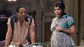 Blair Underwood as Stanley and Daphne Rubin-Vega as Stella in A Streetcar Named Desire.