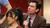 Justin Long as Martin, Hettienne Park as Izzy and Jerry O'Connell as Douglas in Seminar.