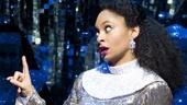 Carolee Carmello as Mother Superior and Raven-Symoné as Deloris Van Cartier in Sister Act.