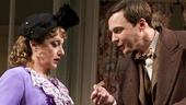 Carol Kane as Betty Chumley and Jim Parsons as Elwood P. Dowd in Harvey.