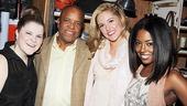 Leading lady trio Ryann Redmond, Taylor Louderman and Adrienne Warren meet Gordy — the man, the myth, the mogul!