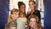 Flashdance national tour opening night - Kelly Felthous - Dequina Moore - Emily Padgett - Rachelle Rak
