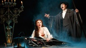 Samantha Hill as Christine and Peter Joback as The Phantom in The Phantom of the Opera.