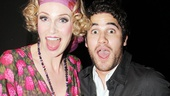 Broadway alum Darren Criss is on hand for his Glee co-star Jane Lynch's big opening night on Broadway.