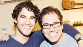 A cute pic of Darren Criss and Cinderella music director Andy Einhorn.