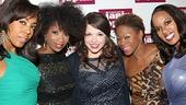 Joplinaires, de'Adre Aziza, Taprena Michelle Augustine, Nikki Kimbrough and Allison Blackwell rally around Mary Bridget Davies.