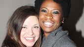 Mary Bridget Davies and Taprena Michelle Augustine are all smiles on recording day.