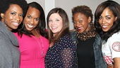 Sing it, ladies! Catch A Night with Janis Joplin stars Taprena Michelle Augustine, Allison Blackwell, Mary Bridget Davies, Nikki Kimbrough and De'Adre Aziza at the Lyceum Theatre.