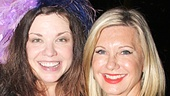 """Mary Bridget Davies gave """"another little piece of her heart"""" to Olivia Newton-John as a souvenir! See the star give her all in A Night with Janis Joplin at the Lyceum Theatre."""